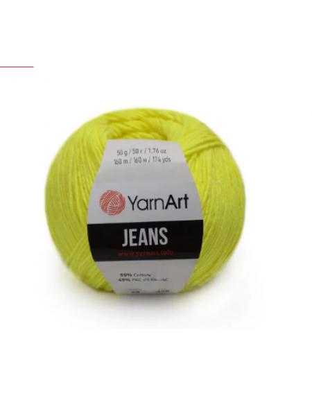 """Пряжа  YarnArt """"Jeans Джинс""""цв. 58, салатовый"""