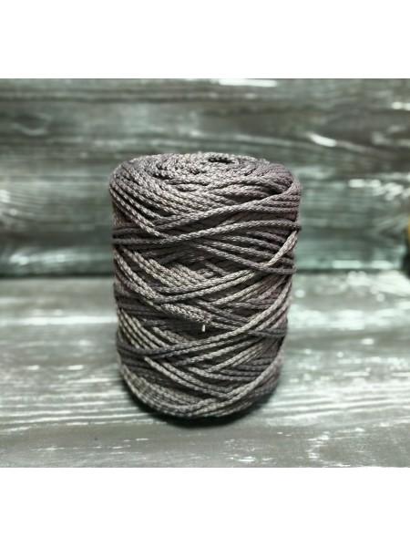 Шнур для вязания,  3мм, цв. серый ,200 метров