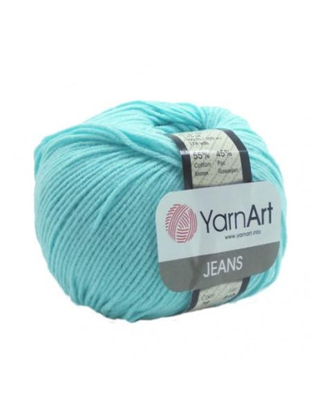 """Пряжа  YarnArt """"Jeans Джинс""""цв. 76, св-бирюзовый"""