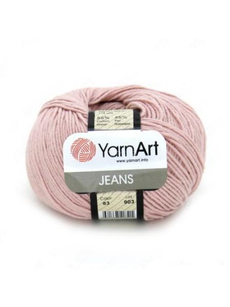 "Пряжа  YarnArt ""Jeans Джинс""цв. 83, св-розовый"