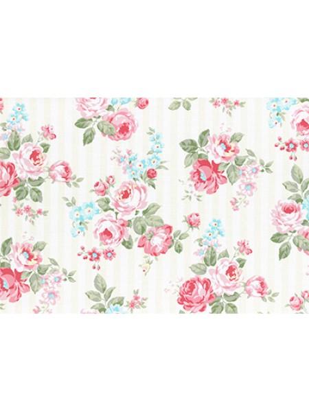 Отрез  хлопка для пэчворка ,50*55см,серия PRINCESS ROSE-цв-кремовый