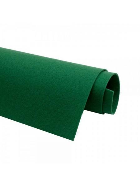 Корейский фетр,жесткий,зеленый.1,2 мм,размер 33*26см