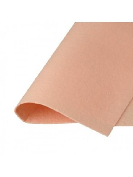 Корейский фетр,жесткий,беж-персик.1,2мм,размер 33*26см