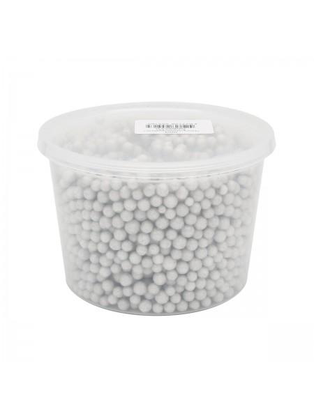 Гранулы пенополистирола с блестками -цв-серебро 0,5литра