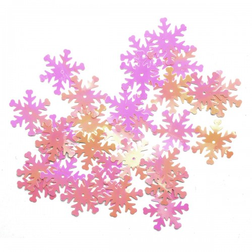 Пайетки 'снежинки',цв- розовый перламутр,24 мм,цв-319