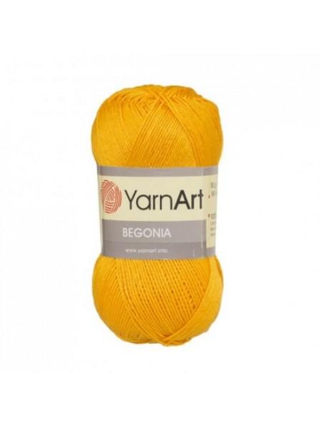 Пряжа Begonia YarnArt-Бегония.№5307,цв-тёмно-жёлтый, 50гр-169 м