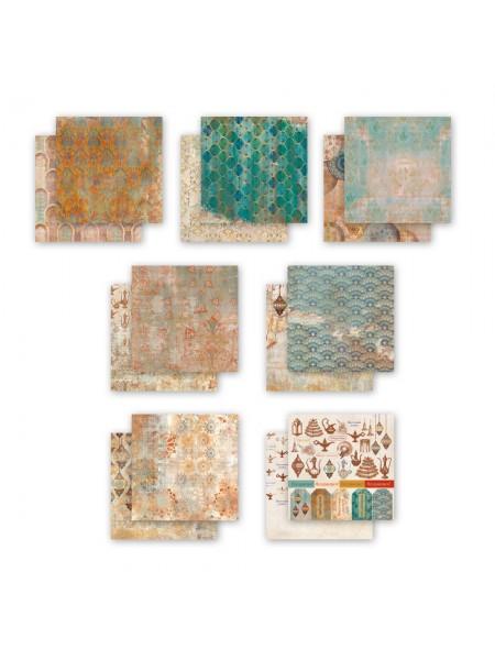 Набор двусторонней бумаги-Восточный экспресс, 20х20см- 7 листов