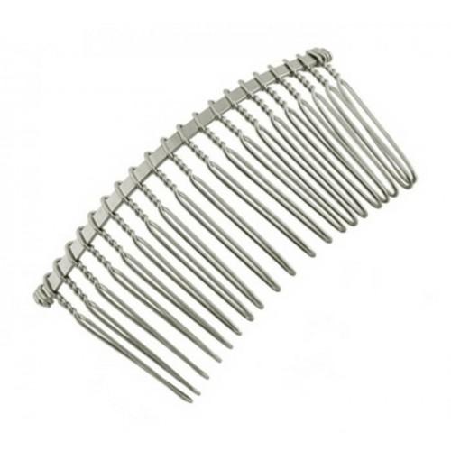 Гребешок металлический с  проволочными зубцами.цв-серебро,цена за 1 шт