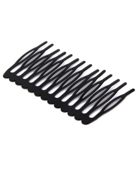 Гребешок основа( 14 зубцов),7,5см, цвет  чёрный