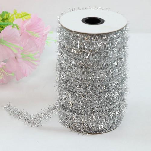 Шнур металлизированный мишура , серебро,,Цена за 1 метр