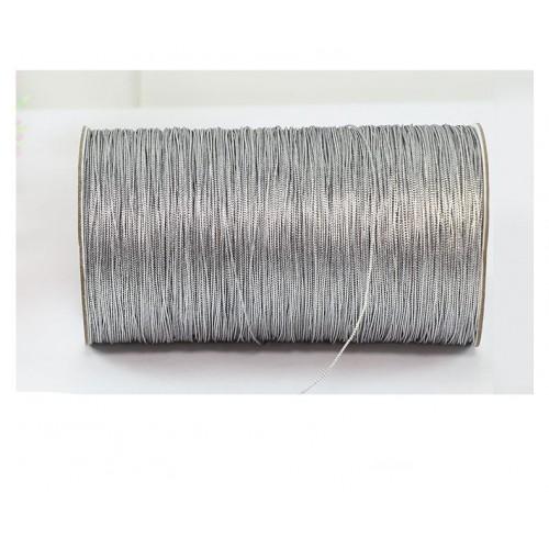 Шнур металлизированный , серебро матовое,1мм,Цена за 1 метр