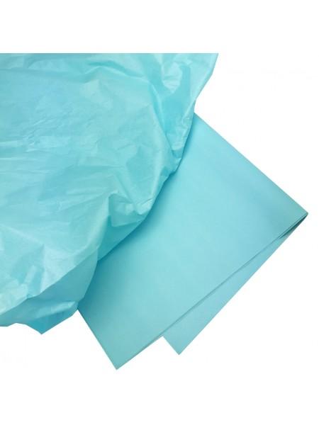 Папиросная бумага тишью,голубая,цена за 10 листов