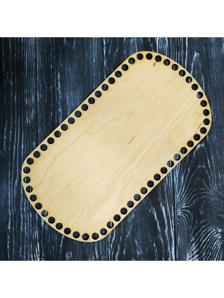 Деревянное донышко для корзин-Скуглённый прямоугольник,28*15см