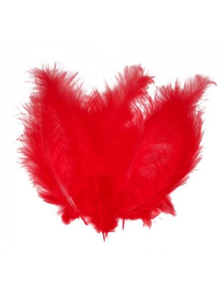 Перья декоративные,цв-красные(028).размер 6-10 см,цена за 30 шт