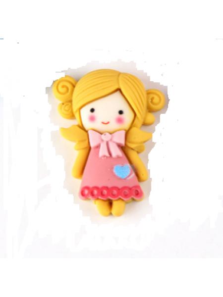 Кабашон (декоративный элемент),Девочка-№3 - 23*30мм