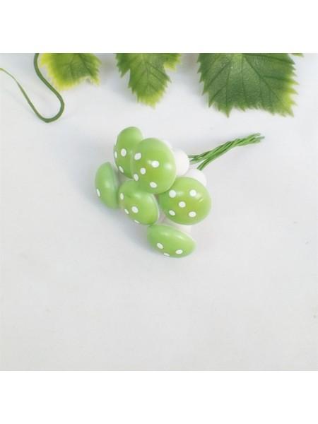 Грибочки,мухомор, цв-зелёный,цена за 1 шт