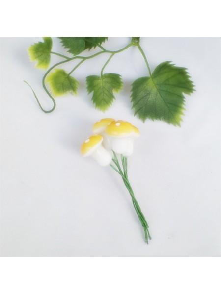 Грибочки,мухомор, цв-тёмно-жёлтые,цена за 1 шт