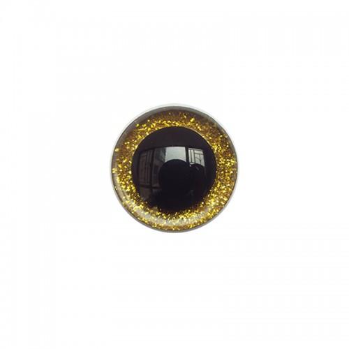 Глазки безопасные,блестящие,цв-золото,20 мм,цена за пару