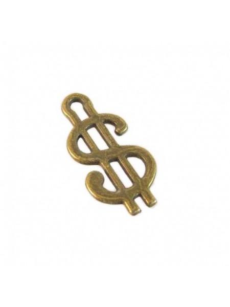 Подвеска доллар, бронза,цена за 1 шт