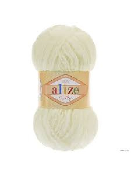 Пряжа Alize Softy,цв-молочный,50 гр