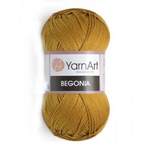 Пряжа Begonia YarnArt-Бегония.№6340,тцв-горчичный, 50гр-169 м