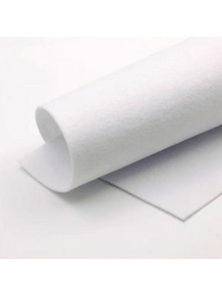 Корейский фетр,жесткий,гр-белый.(молочный)1,2 мм,размер 33*26см