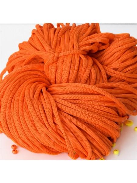 Полиэфирный шнур для вязания,4мм,цв-оранжевый,100м