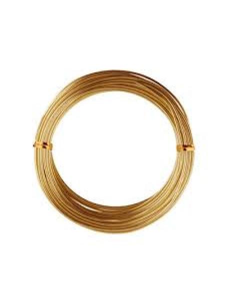 Проволока для плетения ,цв-светлое золото,1,5мм.-5м