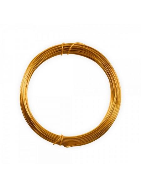 Проволока для плетения ,цв-золото,1мм.-10м