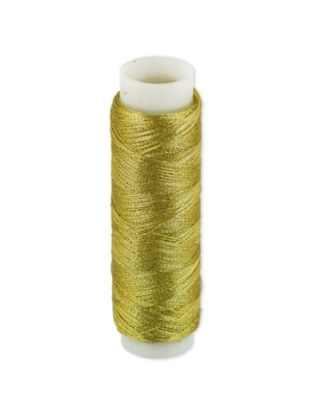 Металлизированная нить. 100% полиэстер-100 м,цв-золото