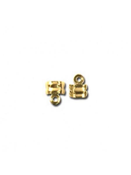 Зажим для узла (каллот),цв-золото, Цена за упаковку из 10 шт