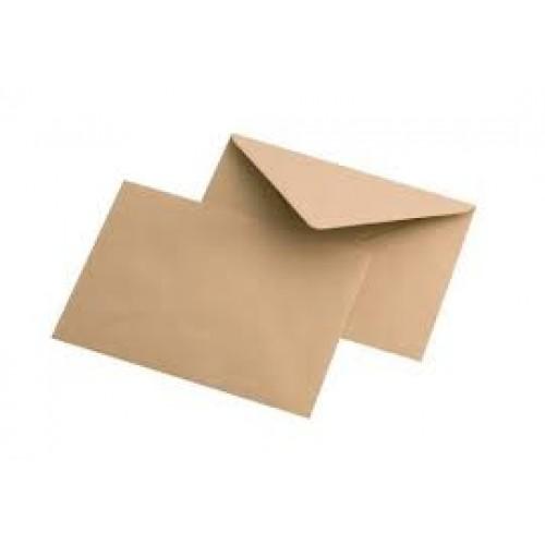 Крафт-конверт ,цв-коричневый , С-6, 114х162 мм,цена за 1 шт