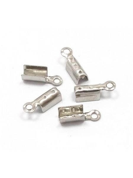 Зажим для узла (каллот),цв-серебро, Цена за упаковку из 10 шт