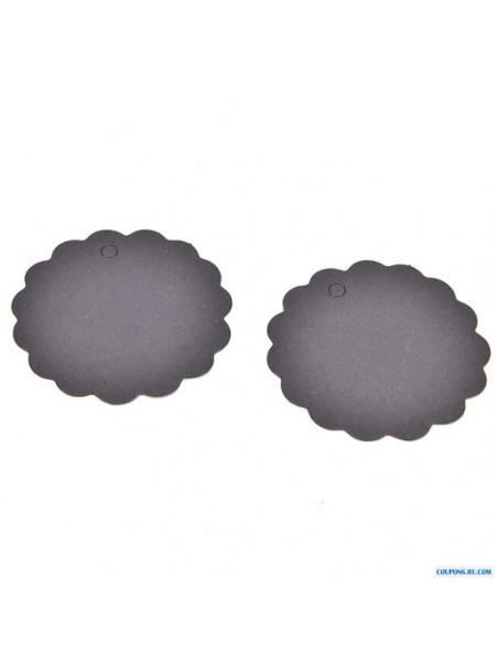 Набор черных круглых(волна)тэгов 50 мм,цена за 10шт