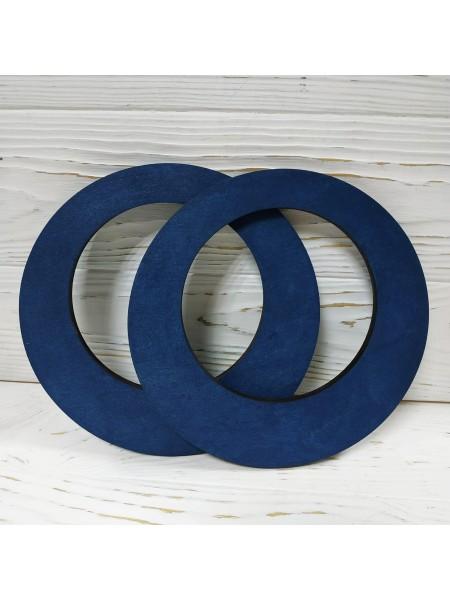 Деревянные ручки для сумки круглые,фигурные,цв-синий,цена за пару