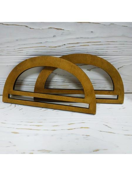Деревянные ручки для сумки ,цв-светло-коричневый,размер 20 см,цена за пару