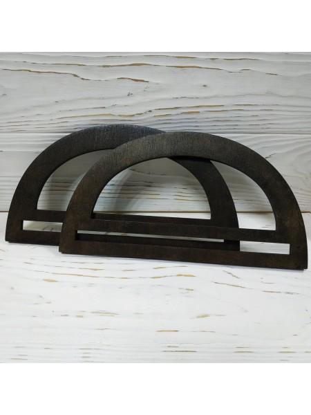 Деревянные ручки для сумки ,цв-венге,размер 20 см,цена за пару