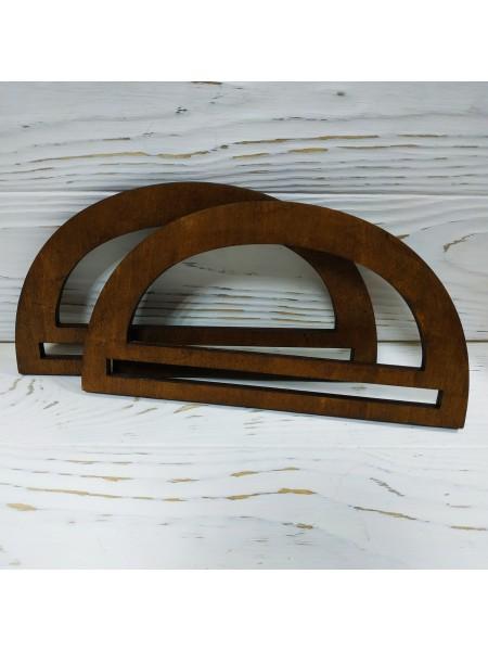 Деревянные ручки для сумки ,цв-тёмно-коричневый,размер 20 см,цена за пару