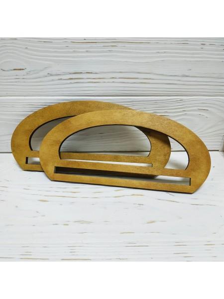 Деревянные ручки для сумки с гравировкой,цв-св-коричневый,23*10,5 см,цена за пару