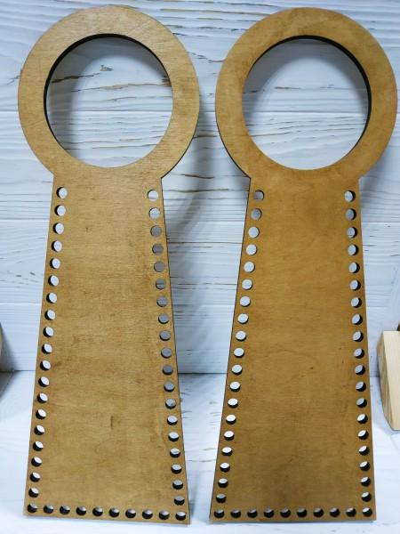 Деревянные ручки(основа-середина), для сумок-без рисунка,цв-св-коричневый,13*38 см,цена за пару