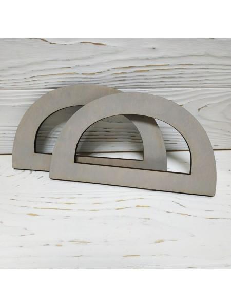 Деревянные ручки для сумок,цв-св-серый,17*10 см см,цена за пару