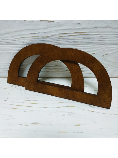 Деревянные ручки для сумок,цв-тёмно-коричневый,20*11 см,цена за пару
