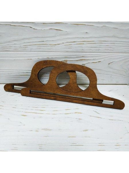 Деревянные ручки для сумок,цв-т-коричневый,25*9см,цена за пару