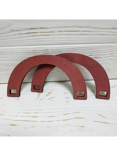 Деревянные ручки для сумок,цв-бордо,17*9 см,цена за пару