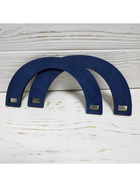 Деревянные ручки для сумок,цв-синий,20*10 см,цена за пару