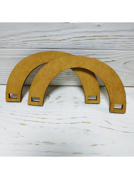 Деревянные ручки для сумок,цв-св-коричневый,20*10 см,цена за пару