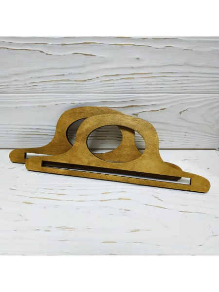 Деревянные ручки для сумок,цв-св-коричневый,22*9см,цена за пару