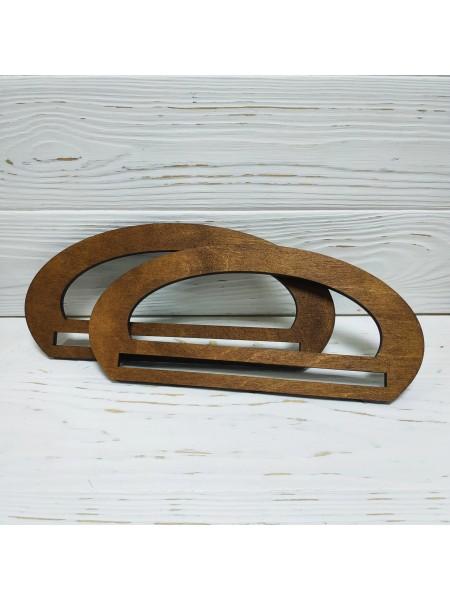 Деревянные ручки для сумки с гравировкой,цв-т-коричневый,23*10,5 см,цена за пару