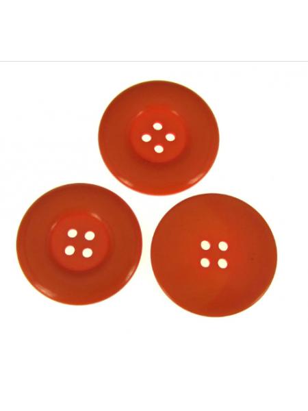 Пуговица большая на 4 прокола, цв-оранжеый, 30мм, цена за 1 шт