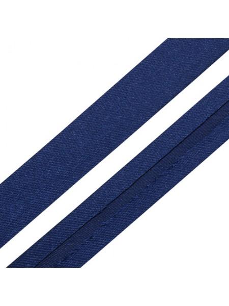 Косая бейка,цв-синий,15мм. Цена за 1 м